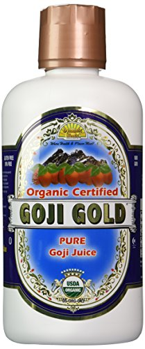 Dynamic Health Goji Gold- 100% Pure Organic Certified Goji Juice, 32-Ounce Bottle
