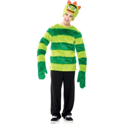 Yo Gabba Gabba Brobee Male Costumes (Paper Magic Men's Yo Gabba Gabba! - Brobee Adult Costume Small Green)