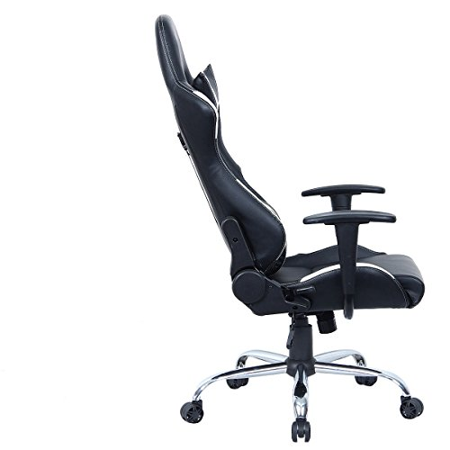 Giantex Black and White Gaming Chair Office Chair Race  : 411e5d7UimL <strong>Leather Reclining</strong> Office Chair from www.gamingchairreviewsandratings.com size 500 x 500 jpeg 21kB