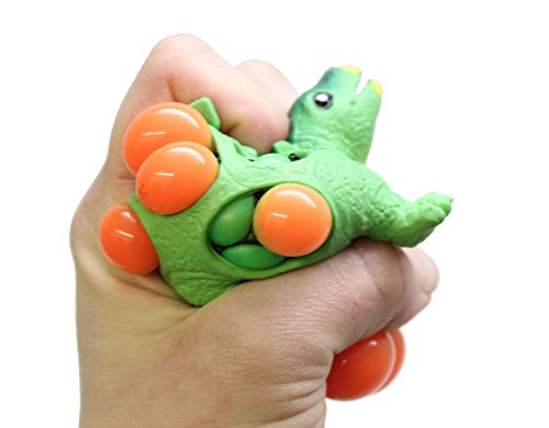 Curious Minds Busy Bags 1 Mesh Dinosaur Squeeze Stress Ball - Sensory, Stress, Fidget Toy - Squishy Toy