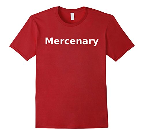[Mens Mercenary T-Shirt. Board Games Role Play RPG LARP Halloween Large Cranberry] (Mercenaries 2 All Costumes)
