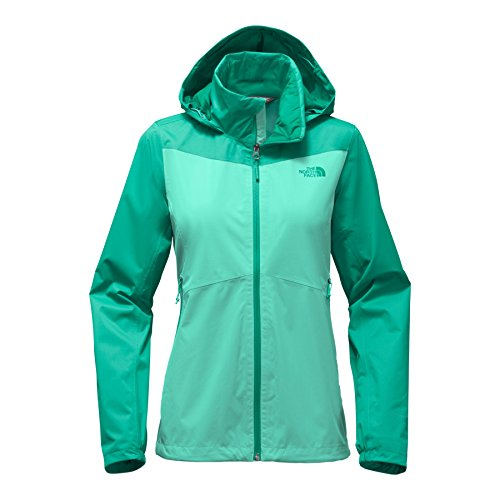 The North Face Women's Resolve Plus Jacket - Pool Green & Porclain Green - XL