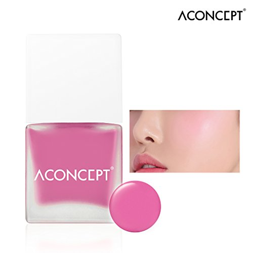 [ACONCEPT] Cheek Me 10g (#1 Marry me) - Watercolor Cheek Liquid Blusher, Easy to Blush Makeup, Not Sticky Fresh Oil Base Water Fit Texture, Natural Daily Color - Gel Cheek Color