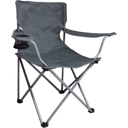 Amazon.com: Ozark Trail Folding Chair with Built-In Cup Holder (Grey ...