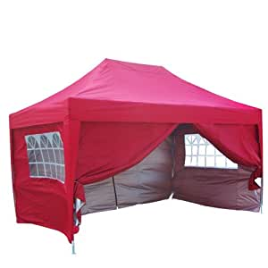 quictent silvox waterproof 10x15 39 ez pop up canopy gazebo party tent red portable. Black Bedroom Furniture Sets. Home Design Ideas