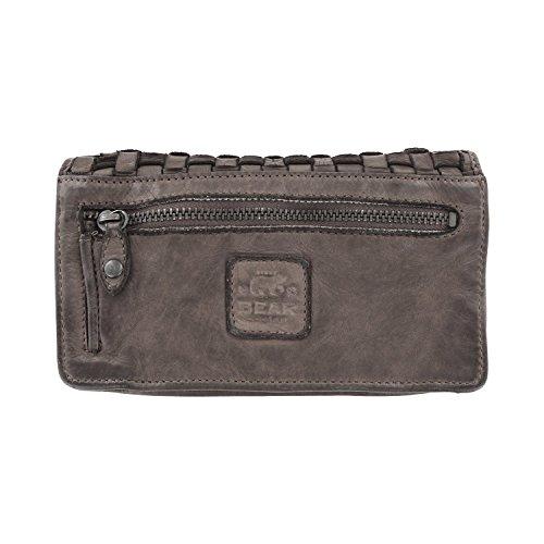 Bear Design bandoulière porte 10 lavée cuir CL13995 en tressé 17 sac monnaie cm à Gris 3 rrFqxtdwg