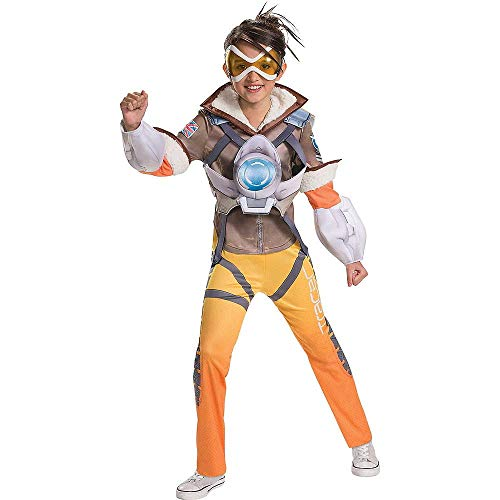 HalloCostume Video Game Theme Costume Compatible with Overwatch Theme Girls Tracer Costume - Overwatch (Overwatch Game Of The Year Edition Upgrade)