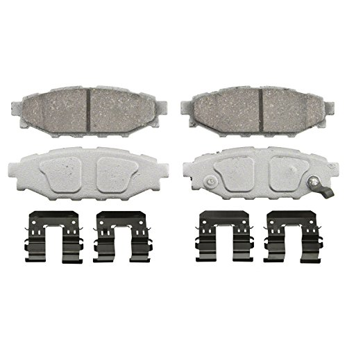 Wagner ThermoQuiet PD1114 Ceramic Disc Pad Set With Installation Hardware, (Wrx Rear Brake Pad)
