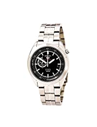 Seiko SSA065K1 Men's 5 Sports Automatic Black Dial Stainless Steel Watch