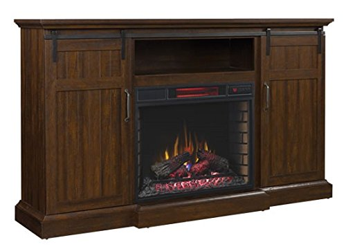 ClassicFlame Manning Infrared Electric Fireplace Entertainment Center, Saw Cut Espresso - 28MM9954-PD01 (Electric Cabinet Espresso Fireplace)