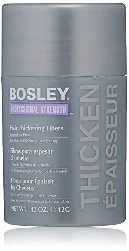 Bosley Professional Strength Hair Thickening Fibers, Black, 0.42 oz