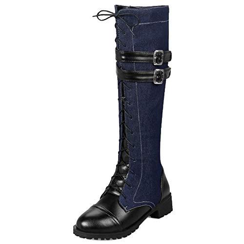 Zip Women Coolcept h Knee Heel Black Low Boots CFXxqwXTP