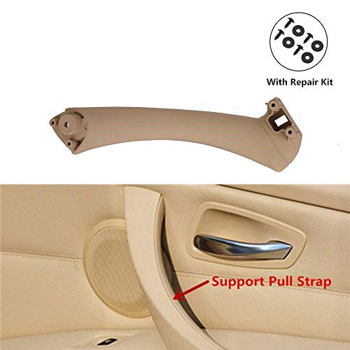 For 2004-2012 BMW 3 Series E90 E91 Support Pull Strap Right Interior Door Beige 514081, Inner Handle Bracket Inside Panel Trim Fit for 318 328 320 325 330 335 Replace ()