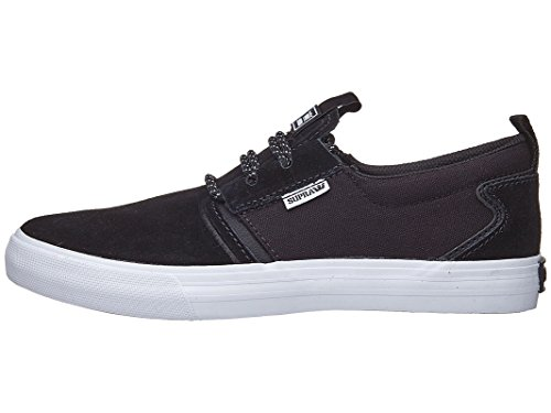 Black Flow Supra Grey White Gum Shoe Grey Dark Black Mens Skate g58wq5Bn
