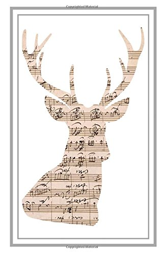 Read Online Manuscript Antler Stag Head: Narrow Ruled Journal / Notebook / Diary 5.5 x 8.5 inches (Animals) ebook