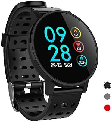 CRATEC W7 Fitness Tracker, Smart Watch with Heart Rate Blood Pressure Sleep Monitor, Long Battery Life Large Screen Waterproof Calorie Pedometer Activity Tracker for Men Women and Students