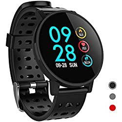 CRATEC W7 Fitness Tracker, Smart Watch with Heart Rate Blood Pressure Sleep Monitor, Long Battery Life Touch Screen IP67 Waterproof, Calorie Pedometer Activity Tracker Sport Band for Men Women