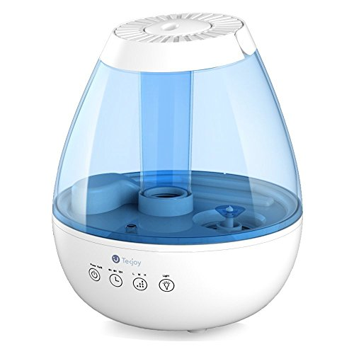 Tekjoy Cool Mist Humidifier, Premium Ultrasonic Humidifiers 7 Night Light Bedroom, Whisper Quiet, Auto Shut-Off, 360° Nozzle, Touch Panel, Timer, Filterless Vaporizer - 2.5L Lasts Up to 24 Hours from Tekjoy