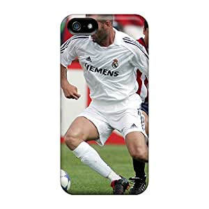 Awesome Case Cover/iphone 5/5s Defender Case Cover(the Legend Of Football Zinedine Zidane Passing The Ball)