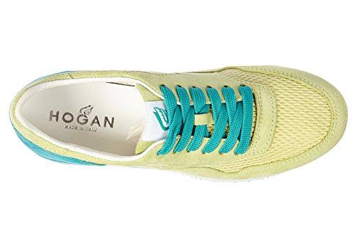 Hogan Kvinna Skor Mocka Tränare Gymnastik H222 Vintage Grön