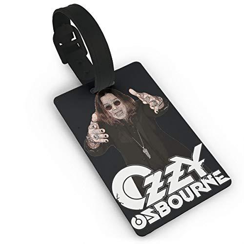 Ozzy Osbourne Belt - Nooleadel Frozen Luggage and Backpack ID Tag Frozen Luggage and Backpack ID Tag Ozzy Osbourne Stylish Music Band Suitcase Labels Bag Travel Accessories