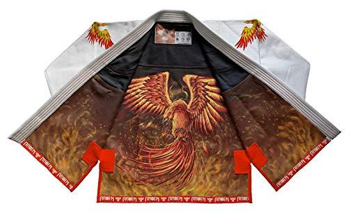 Raven Fightwear Men's The Phoenix Jiu Jitsu Gi BJJ Uniform White A1 -