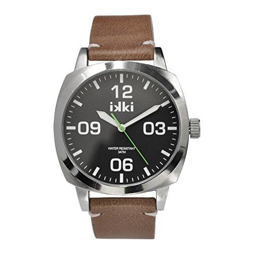 ikki Reloj analógico para mujer Quartz Piel Marrón MG de 01: Amazon.es: Relojes