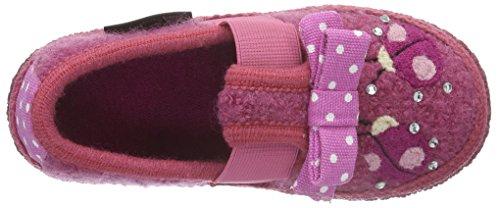 Haflinger Mädchen Ladybird Flache Hausschuhe Pink (Azalee 20)