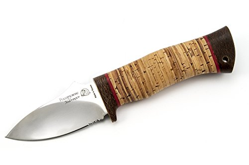 STING – Fixed Blade Hunting Knife with Birch Bark handle by Rosarms
