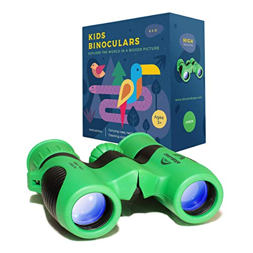 (Kids Binoculars 8x21 - High Resolution - Shock Proof - Bird Watching - Childrens Gifts - Presents for Kids - Boys and Girls - Outside Play - Hunting - Hiking - Camping - Backyard Safari - Dreamskope)