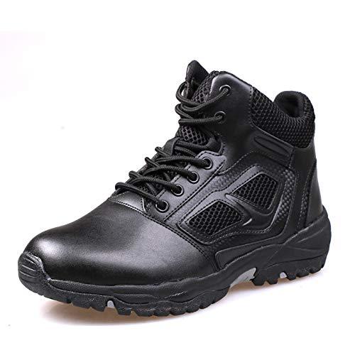 HCBYJ Schuhe Herrenschuhe, Militärstiefel, Halbschuhe, PU-Outdoor-Herren, Frühling und Herbst, ultraleichter Kampf