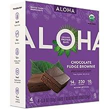 Aloha Chocolate fudge brownie plant based protein 1.9ozx4( total 7.9oz)