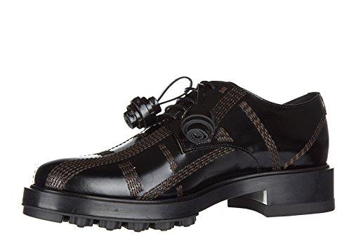 Tod's chaussures à lacets classiques femme en cuir derby allacciata impunture no