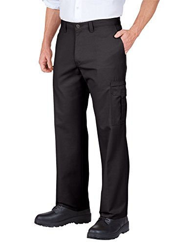 "Dickies Occupational Workwear 2112372DC 32x30 Polyester/Cotton Relaxed Fit Men's Premium Industrial Cargo Pant with Straight Leg, 32"" Waist Size, 30"" Inseam, Dark Charcoal"