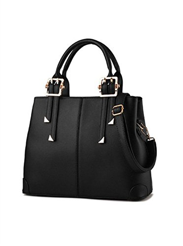 Bag Black Qckj New Pu Women Body Soild Shoulder Fashion Cross Bag 7RqHv
