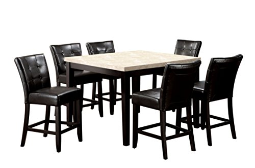 """HOMES: Inside + Out IDF-3866PT-48 7PC SET Glynn 7 Piece 48"""" Counter Height Dining Set"""