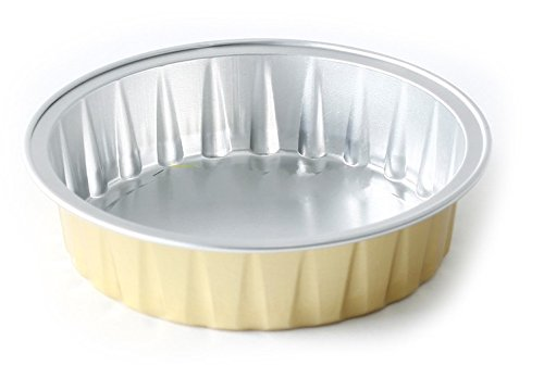 "KEISEN 3 2/5"" mini Disposable Aluminum Foil Cups 80ml for Muffin Cupcake Baking Bake Utility Ramekin Cup 100/PK"
