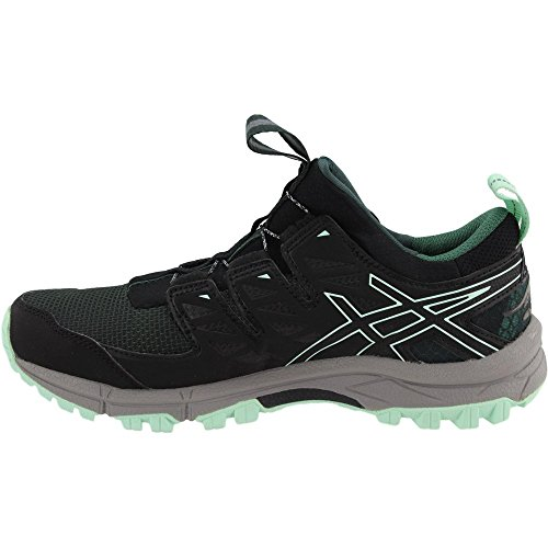Zapatillas De Running Asics Para Mujer Gel-fujirado Trail Hampton Verde / Negro / Aluminio