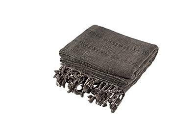 InfuszeZen Stonewashed Turkish Towel Extra Large - InfuseZen Thin & Absorbent Bath Towel, Beach Towel and Pool Towel, Large Cotton Stone Washed Peshtemal Towels Weaved in Turkey, Hammam Spa Towels