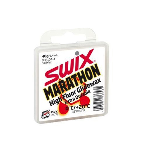 Swix DHF 104-4 Cera F Marathon High Performance First Layer Wax for New Snow, White, 40gm by Swix