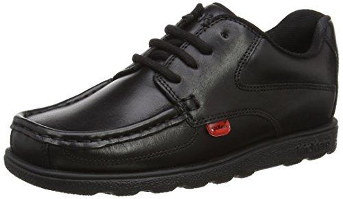 Kickers Boy's Fragma Lace Shoe US4 Black