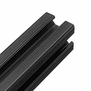 Yingte 2020 T-Slot Aluminum Profiles Extrusion Frame,600mm Length Black Anodized by Yingte