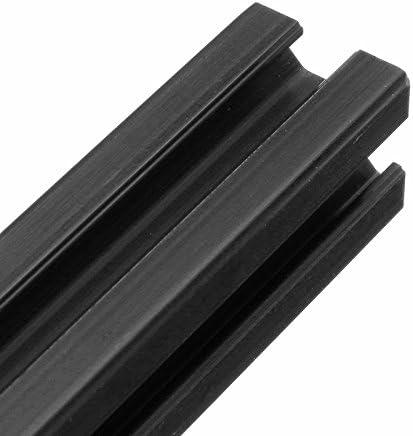 Perfiles de aluminio negro anodizado 2020 con ranura en T marco de extrusi/ón de aluminio para CNC SONSAN 1000 mm de longitud