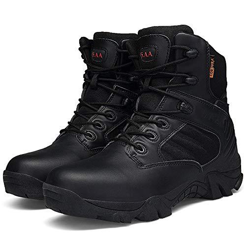 Traspiranti L'escursionismo Da Combattimento Militari Tattici Per Stivali Asjunq Black Uomo H8wWq1YC