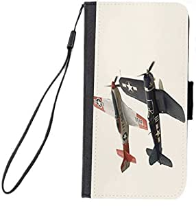 Rikki KnightTM Vintage Army Fighter Planes Design Galaxy S5 Premium PU Leather Wallet Type Flip Case with Magnetic Flap for Samsung Galaxy S5 i9500 by runtopwell