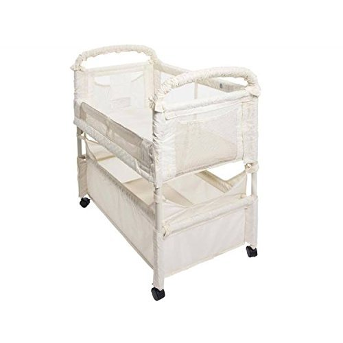 Arm's Reach Clear-Vue Co-sleeper Natural Poly Fabric Bassinet
