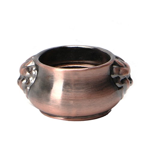 OHTOP Copper Mini Lion Ear Incense Coil Burner Censer Aromatherapy Pot Vintage