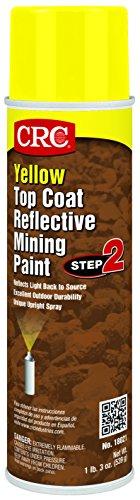 CRC 18021 Yellow Reflective Mining Paint - Top Coat, 15 WT oz, 20 fl. oz. Aerosol by CRC
