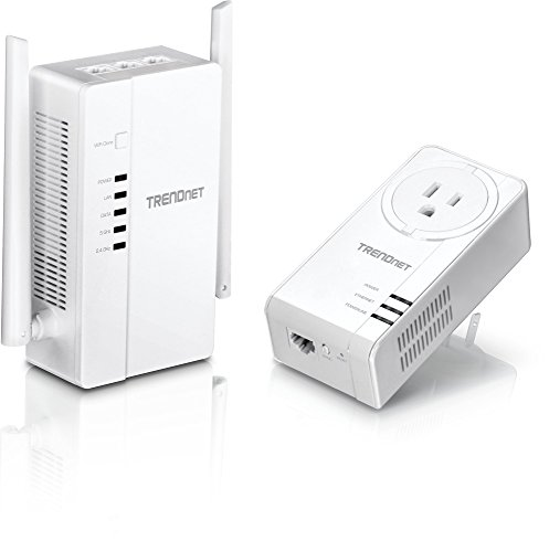 TRENDnet Wi-Fi Everywhere Powerline 1200 AV2 Dual-Band AC1200 Wireless Access Point Kit, Includes 1 x TPL-430AP and 1 x TPL-421E, White, TPL-430APK by TRENDnet