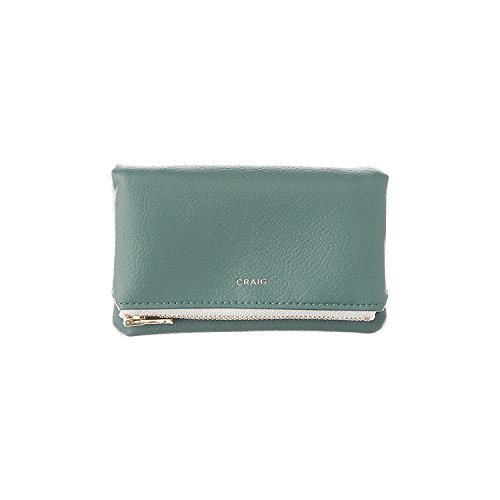 500254 Craig Card Case Green Grey Pouch Coin Case